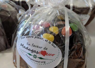 Cake chocolat - Smarties, pour le marché de Lausanne du 2 mars 2019