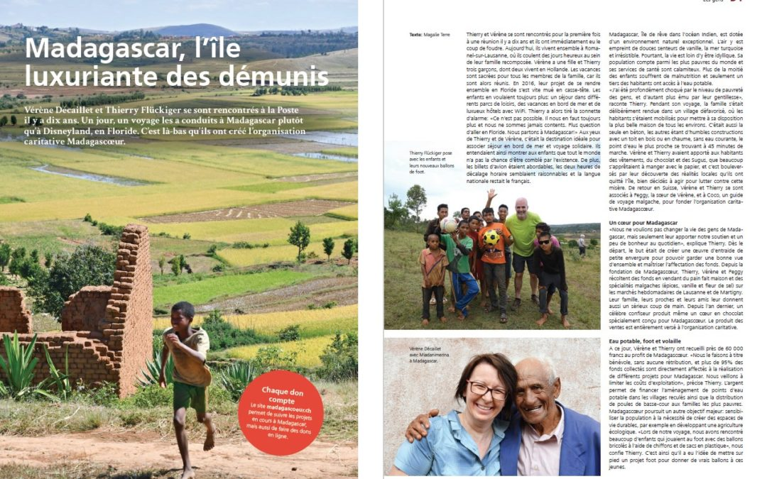 MADAGASCOEUR DANS LE JOURNAL DU PERSONNEL DE LA POSTE