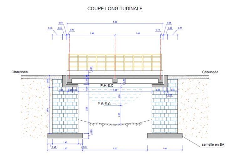 Plan du pont (coupe)